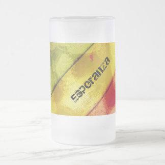 Esperanza Frosted Glass Beer Mug