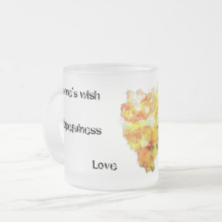 Esperanza Frosted Glass Coffee Mug