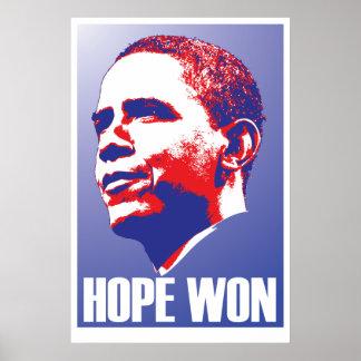 ¡Esperanza ganada! - Presidente de Barack Obama De Póster