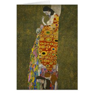 Esperanza II de Gustavo Klimt Tarjeta Pequeña