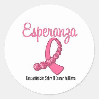 Esperanza Liston Rosa - Cancer de Mama Round Sticker