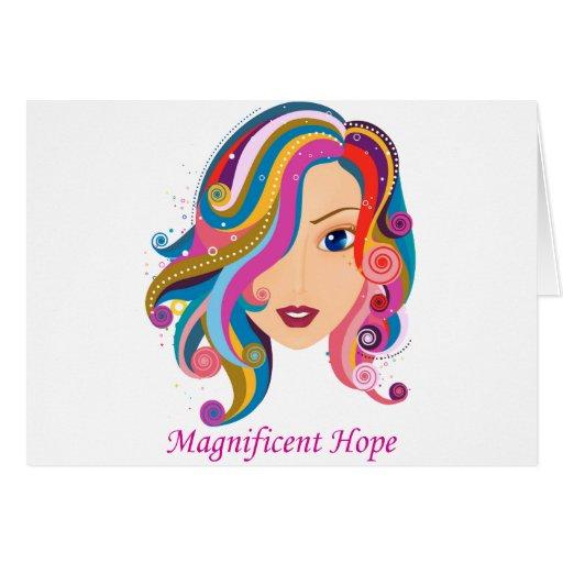 Esperanza magnífica tarjeta de felicitación