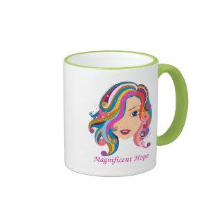 Esperanza magnífica taza de dos colores