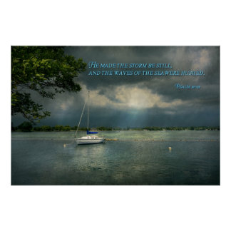 - Esperanza - marinero inspirado - salmo 107-29 Poster