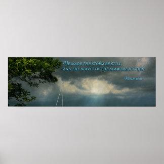 - Esperanza - marinero inspirado - salmo 107-29 Posters
