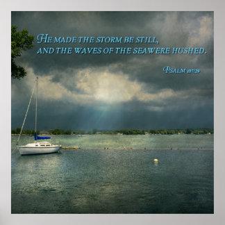 - Esperanza - marinero inspirado - salmo 107-29 Impresiones