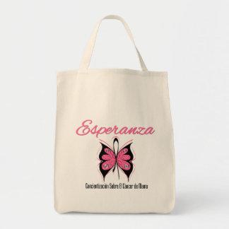 Esperanza Mariposa - Cancer de Mama Canvas Bags
