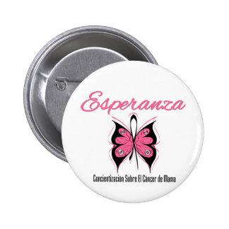 Esperanza Mariposa - Cancer de Mama Pinback Button