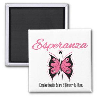 Esperanza Mariposa - Cancer de Mama Refrigerator Magnet