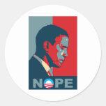 ¿Esperanza? ¡NOPE! ¡Guarde el cambio, Barack! Pegatina Redonda