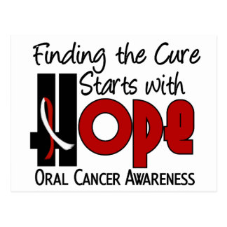 ESPERANZA oral 4 del cáncer Tarjeta Postal