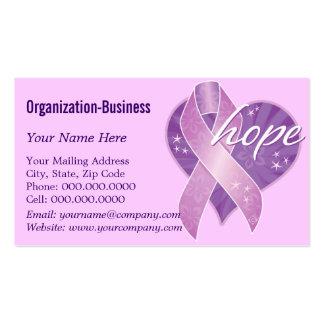 esperanza púrpura de la cinta plantilla de tarjeta personal