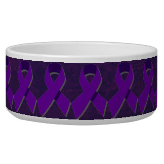 Esperanza púrpura de la oscuridad tazon para perro