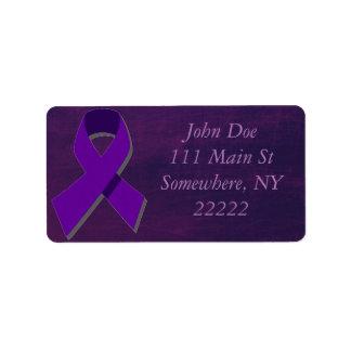 Esperanza púrpura de la oscuridad etiqueta de dirección