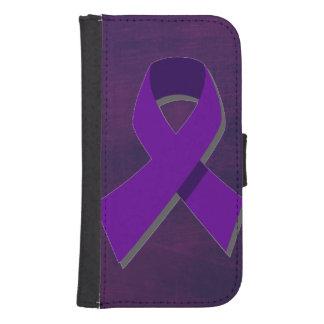 Esperanza púrpura de la oscuridad funda billetera para teléfono