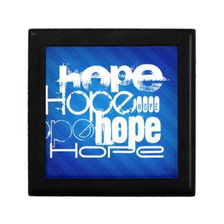 Esperanza; Rayas azules reales Cajas De Regalo