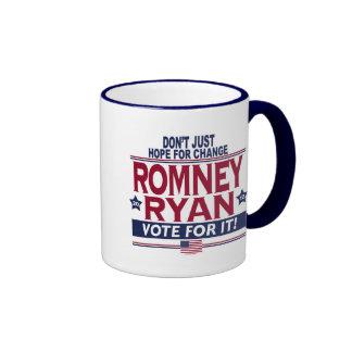 Esperanza real 2012 de Romney Ryan Tazas