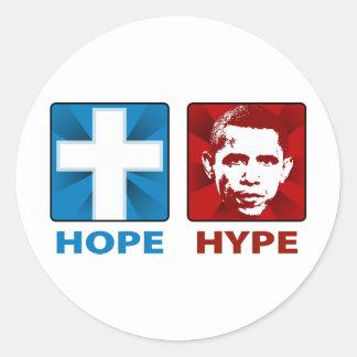 Esperanza real (no Obama) Pegatina Redonda