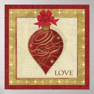 Esperanza roja de DŽcor del navidad Posters