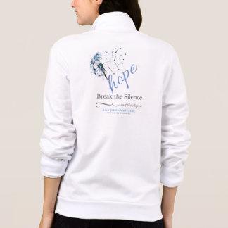 Esperanza - rompa el estigma de la enfermedad chaqueta imprimida