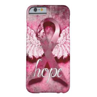 Esperanza rosada de la cinta por los diseños de funda de iPhone 6 barely there