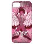 Esperanza rosada de la cinta por los diseños de Ve iPhone 5 Protectores