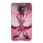Esperanza rosada de la cinta por los diseños de Ve Galaxy SII Fundas