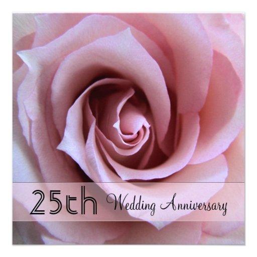 Esperanza Rose 25th Anniversary Invitation