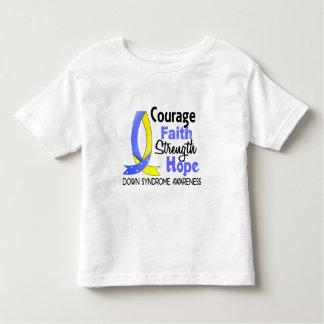 Esperanza Síndrome de Down de la fuerza de la fe Camisas