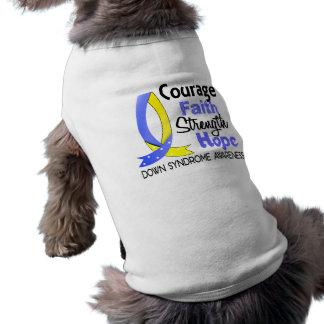 Esperanza Síndrome de Down de la fuerza de la fe d Camisa De Mascota