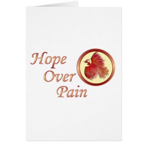 Esperanza sobre el dolor Phoenix Felicitacion