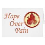 Esperanza sobre el dolor Phoenix Tarjetas