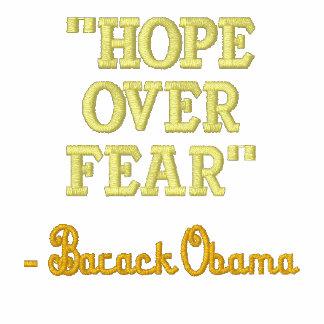 Esperanza sobre la chaqueta bordada Barack Obama