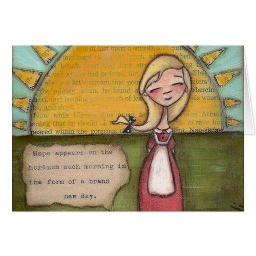 Esperanza - tarjeta de felicitación