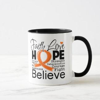 Esperanza tipográfica del amor de la fe de la