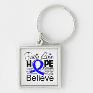 Esperanza tipográfica del amor de la fe del cáncer llavero