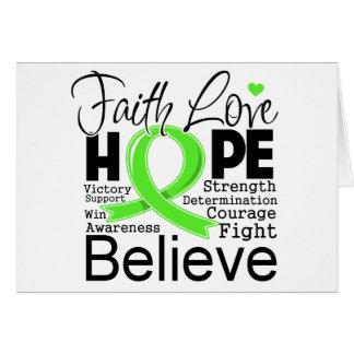 Esperanza tipográfica del amor de la fe del tarjeta de felicitación