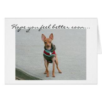 Esperanza usted siente una mejor pronto tarjeta de