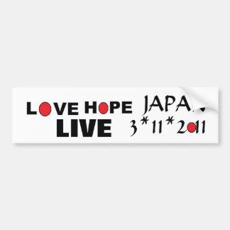 Esperanza viva Japón del amor Pegatina Para Auto