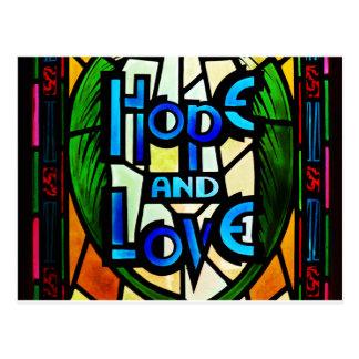 Esperanza y amor tarjetas postales