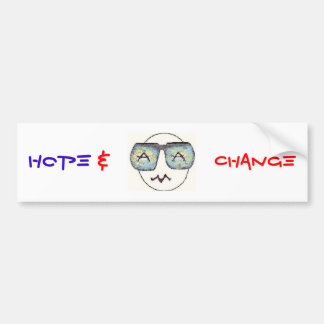 Esperanza y cambio pegatina de parachoque