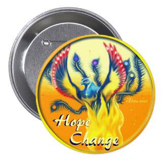 Esperanza y cambio de levantamiento del ~ de Phoen Pin Redondo 7 Cm