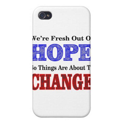Esperanza y cambio iPhone 4 fundas