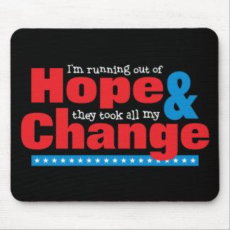 Esperanza y cambio mousepads