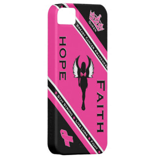 Esperanza y fe del cáncer de pecho funda para iPhone SE/5/5s