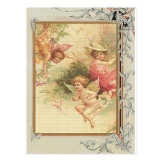 Esperanzado - ángeles y flores tarjeta postal