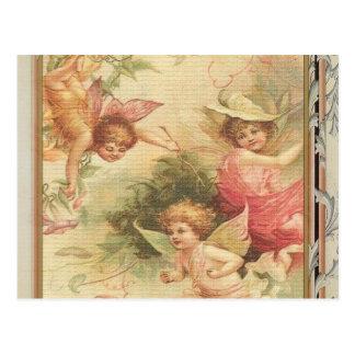 Esperanzado - ángeles y flores tarjetas postales
