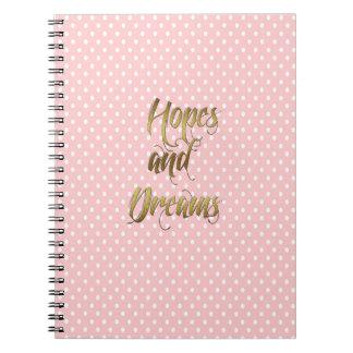 Esperanzas metálicas y diario de los sueños cuadernos