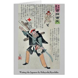 Esperar a los japoneses por Kobayashi, Kiyochika Tarjeta Pequeña