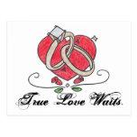 Esperas verdaderas del amor postales